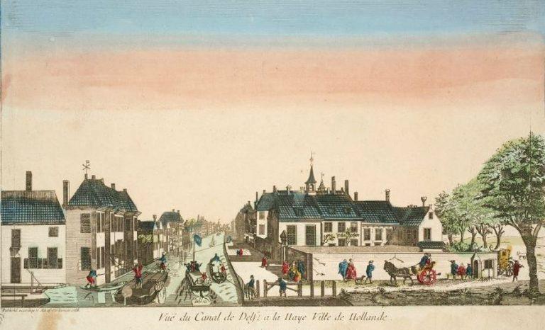 Vuë du Canal de Delft a la Haye