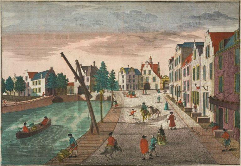 Gesigt van de Ketel- en Rotterdamsche Porten